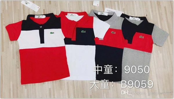 Yaz Yeni Çocuk S Moda T-shirt Rahat Üst Vücut Yakışıklı Kısa kollu Güzel Kadın S Desen Baskı B9059