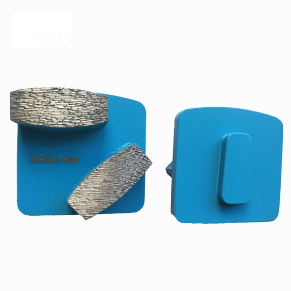 KD-L10 12 Pieces Redi Lock Diamond Grinding Shoes Husqvarna Grinding Block Grinding Plates for Concrete and Terrzazzo Floor