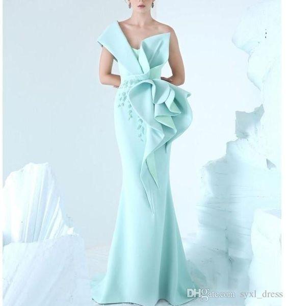 2k19 dubai sexy one shoulder plus size special occasion dresses evening wear dress for occasions mermaid prom dresses 2019 robes de mariée