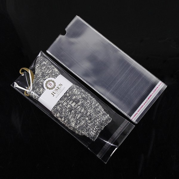 2000pcs/lot 3 Size Opp Transparent Packaging Plastic Package Bags Self Adhesive Seal Storage bag 100pcs for socks storage