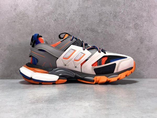 Открытые Беговые Дизайнерская неуклюжая Повседневная обувь Track3.0 кроссовки Tess Париж Мужчина Gomma Maille Black Low Track 3M Тройной S Обувь