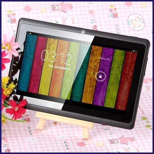7 inch A33 Quad Core Tablet PC Q8 Allwinner Android 4.4 KitKat Capacitive 1.5GHz 512MB RAM 4GB ROM WIFI Dual Camera Flashlight Q88 A23 MQ50
