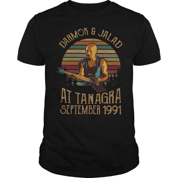 Tanagra De Darmok Ve Jalad Eylül 1991 Vintage T Gömlek Erkekler Pamuk S-6XL denim elbise camiseta t gömlek