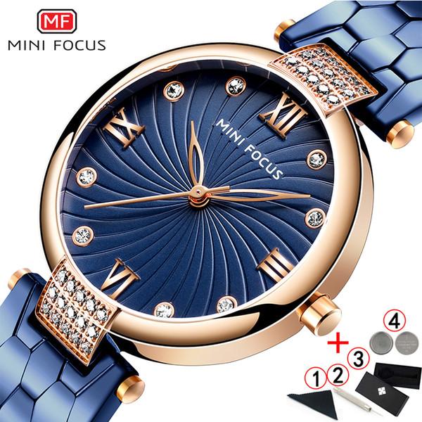 Diamant Women Watch 2020 Mini focus célèbre des marques de luxe Montres élégantes en acier inoxydable pour les femmes 2019 Quartz Montres Femme