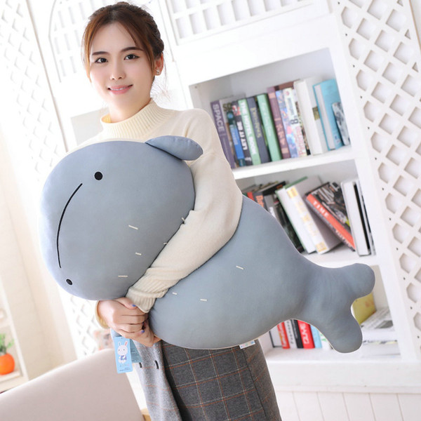 Giant blue whale Stuffed Pillow high quality brown bear white Bird red Fox plush throw Pillow Home sofa decoration Gift for her