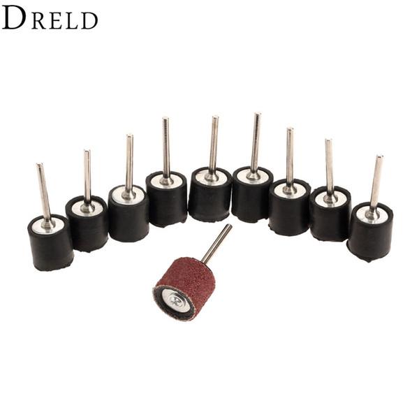 10Pc Dremel 6.35mm Drum Rubber Mandrel 2.35mm Shank Sanding Grinding Rotary Tool