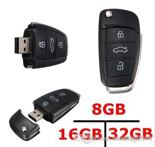 Brand Computers Networking COOL Car Key Design 16 GB USB 2.0 Flash Memory Stick Storage Penne pollice Drive U Disk