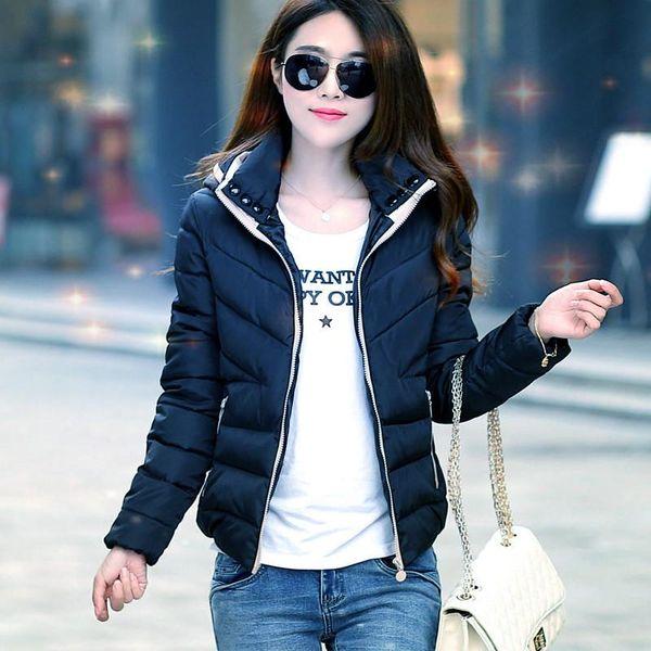 Модные ватные куртки женские Пальто пуховики с капюшоном с длинным рукавом осень зима теплая тонкая пиджаки куртки женские