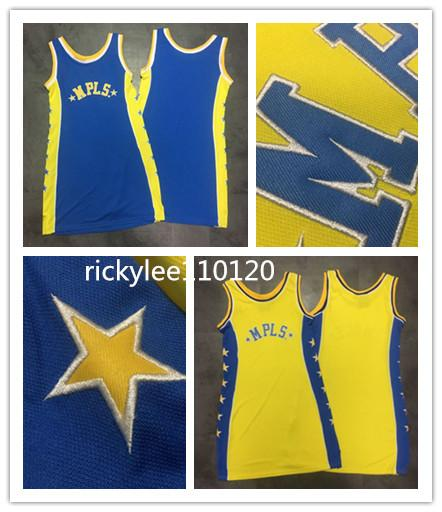 ncaa Basketball jersey women dress MPLS retro LA stiched jersey yellow blue dress