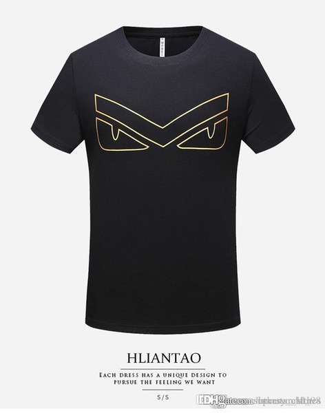 Men's tshirt Original Brand polo with logo and high quality 3D Short Sleeve European and American Big Size Fashion Men's T-shirt