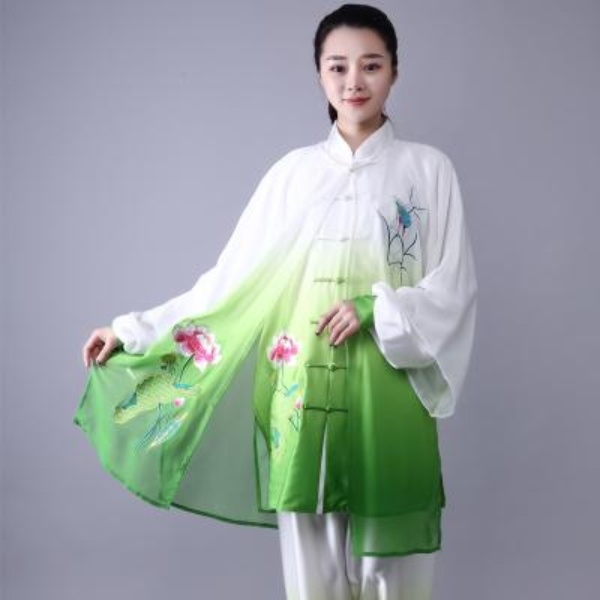 Moda Tai Chi Üniforma Kadın Erkek Dövüş sanatları Üniforma Çince Geleneksel Halk Uzun Kollu Kung Fu Takım Sabah Spor
