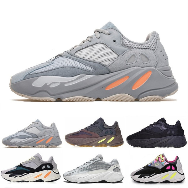 2019 Cheap Mauve 700 Wave Runner Mens Women Designers mens New 700 V2 Static Best Quality Kanye West Running Shoes 5-11.5