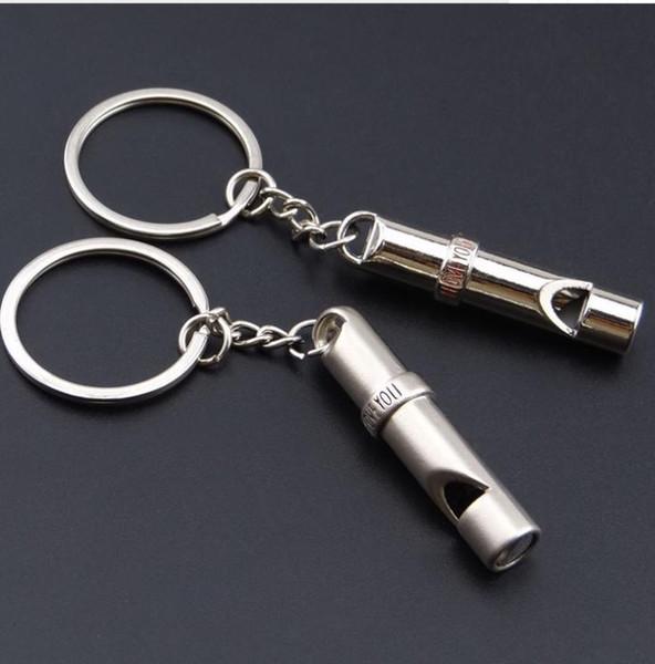 Portachiavi fischietto ti amo ciondolo portachiavi portachiavi accessori per gli amanti regali di Natale