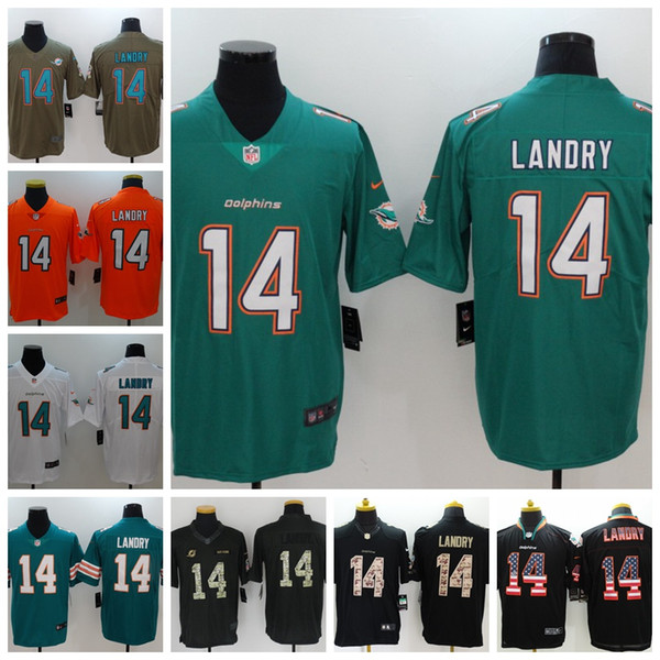 Nice 2018 2019 New Mens 14 Jarvis Landry Jerseys Miami Dolphins Football  hot sale