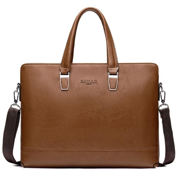 حقائب الرجال الفاخرة حقائب براون حقيبة الأعمال حقيبة لرجل حقيبة سفر كمبيوتر محمول 15 بوصة حقائب الكتف بو الجلود