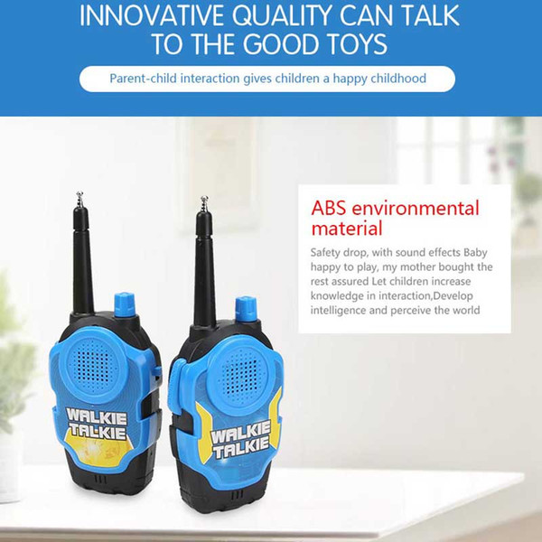 Realistic Sound Effects Children/'s Electronic Toy Plastic Walkie Talkie Toy