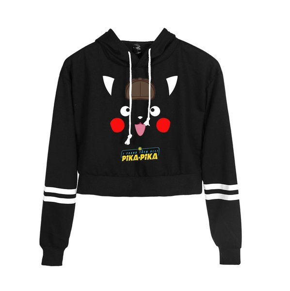 Pikachu New Clothes Print Women Casual Spring Clothes 2019 Harajuku Casual Tops Hot Sale Hoodies Navel sweater Plus Size 4XL
