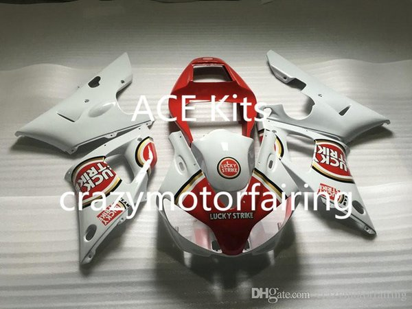 3Gifts New Hot sales bike Fairings Kits For YAMAHA YZF-R1 1998 1999 r1 98 99 YZF1000 White Red FI31