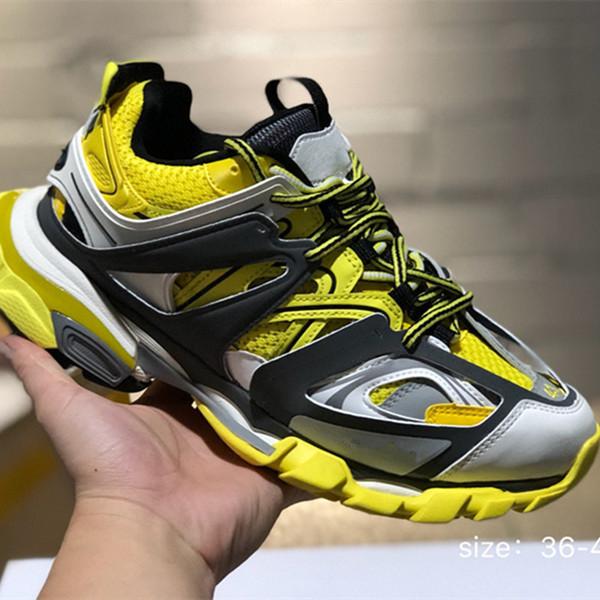 Liberação 3.0 tess paris track homens gomma maille preto Para as mulheres Triplo S Clunky Sneaker Casual Designer Hot Authentic 8gfhjh