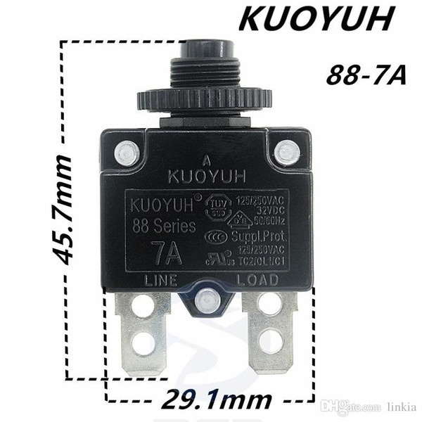 top popular Taiwan KUOYUH Overcurrent Protector Overload Switch 88 Series 7A 2021