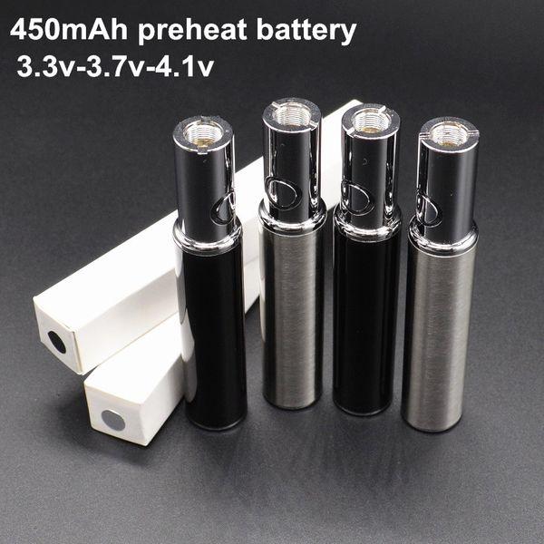 450 мАч, переменное напряжение, 3,3 В, 3,7 В, 4,1 В, батарея предварительного нагрева, мини-батарея Vape. Зарядка снизу.