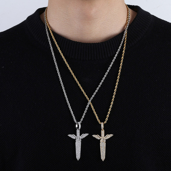 New fashion pendant hip hop hipster sword men's necklace jewelry accessories