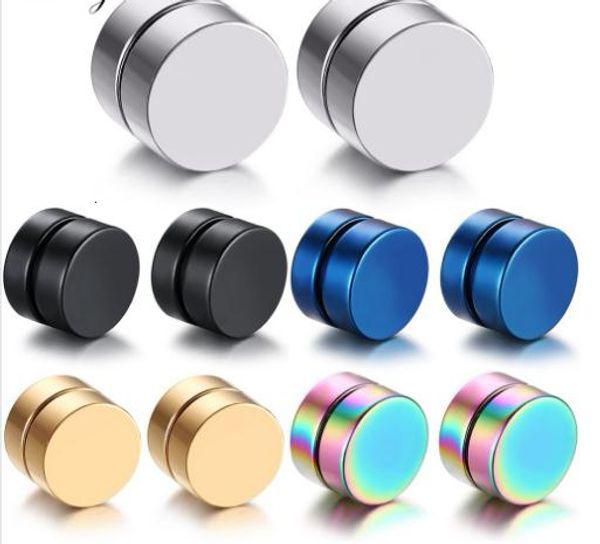 2pcs Punk Mens Forte Ear Magnetic Stud Set orecchini non Piercing falso orecchini regalo per il mio ragazzo Jewelry Lover