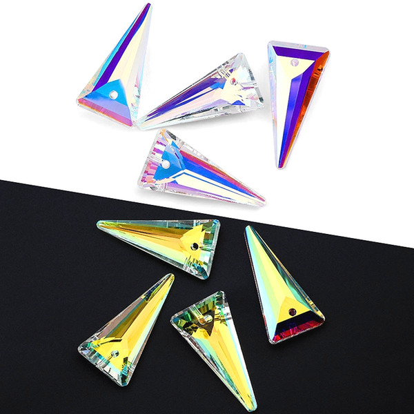 DIY takı aksesuarları yapmak Küpe kolye için 4pcs / lot 6480 Spike kolye elmas taklidi kristal boncuklar Gens