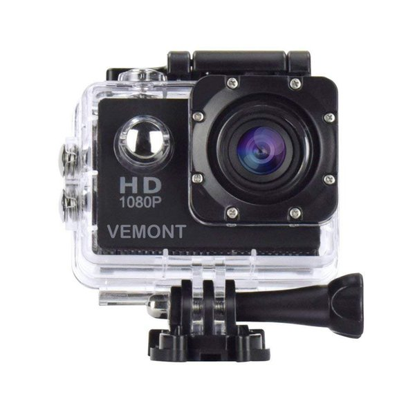 Action Camera 1080P 12MP Sports Camera Full HD 2.0 Inch Action Cam 30m/98ft Underwater Waterproof Camera with Mounting Accessories Kit (Blac