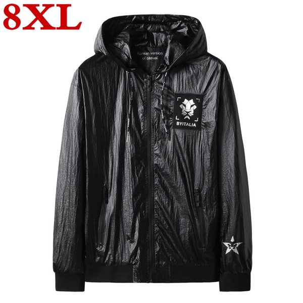 plus size 8XL 7XL 6XL Men's High quality windbreaker Spring And Autumn New Trends Autumn Casual Handsome Large Size Jacket