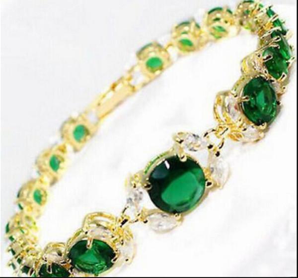 bracelet 317 Nouvelle dame 2017 verte perle Zirconia bracelet en argent perle perlé bracelet 8inch