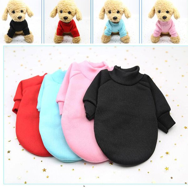 Dog Sweater Autumn Winter Casual Clothes For Small Medium Dog Cats Hoodies Warm Sweatshirts Coat Solid Teddy Chihuahua Shirt Clothing