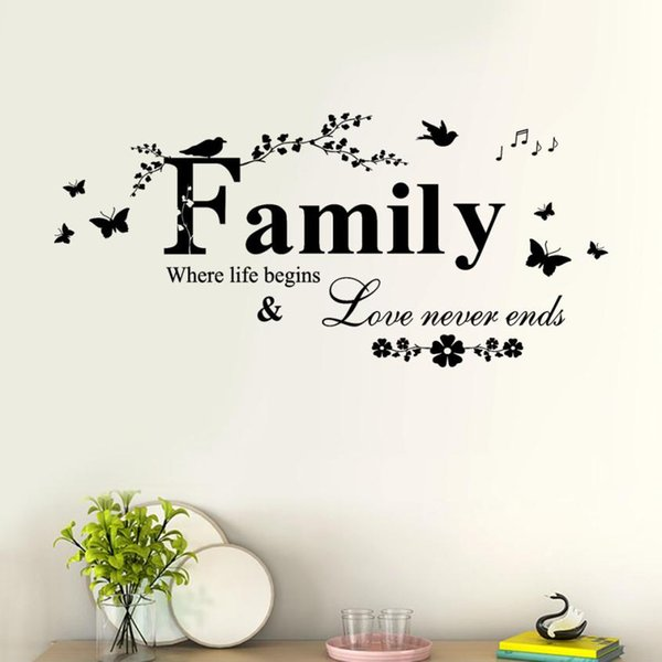 family love never ends quote vinyl wall decal wall lettering art rh m dhgate com