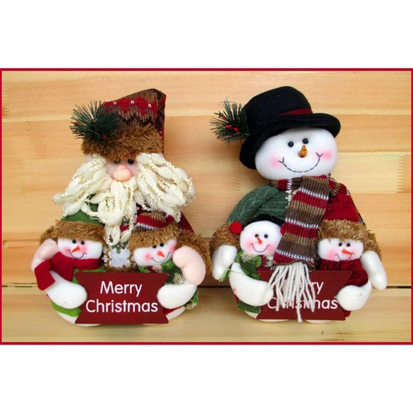 Christmas Doll Cloth Craft Gift Table Decoration DIY Ornament Santa Claus NEW Home Festival Party Xmas Ornament