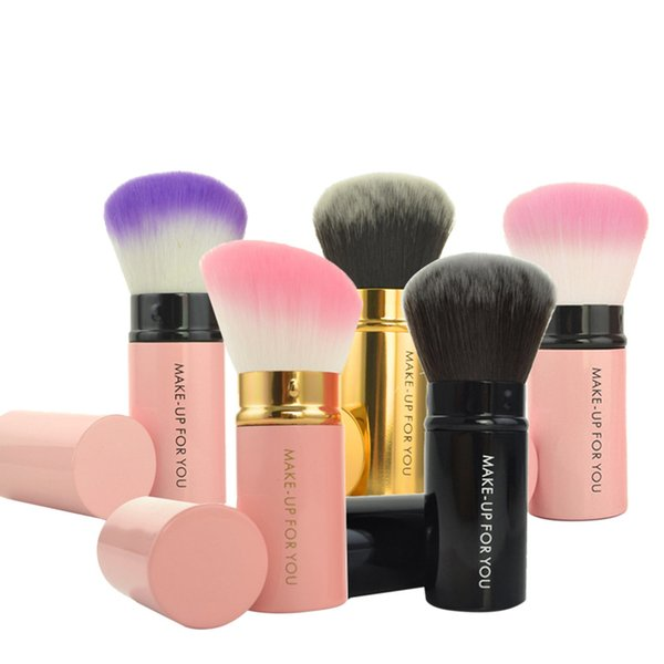 1 unids Retráctil Kabuki Blush Foundation Powder Cosmetic Brush Kit Brochas Maquillaje Profesional Pinceaux Maquillage