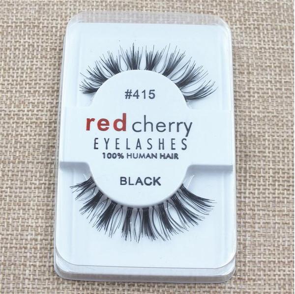 Factory directly RED CHERRY False Eyelashes 4 style Natural Long Eye Lashes Extension Makeup Professional Faux Eyelash Winged Fake Lashes