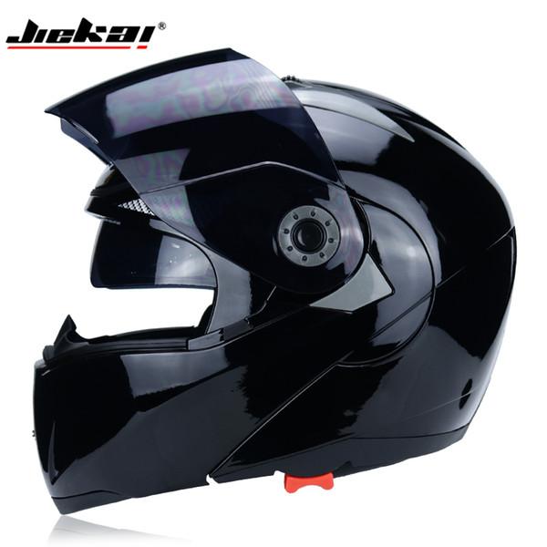 The latest JIEKAI motorcycle helmet safety double sunshade DOT flip helmet casque moto racing 4 season motorcycle MOTO
