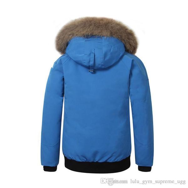 2018 winter down hooded goose canada down jacket camouflage pattern mens zippers warm down jacket outdoor coats aaaaaaaa thumbnail