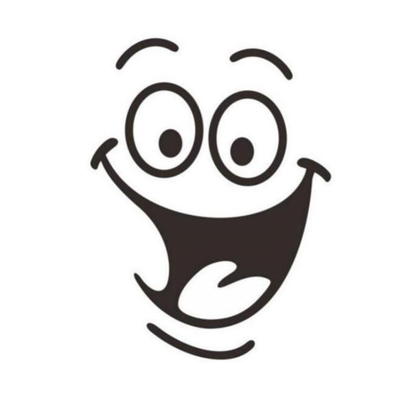 Yeni Banyo duvar sticker Sevimli Gülen Yüz Tuvalet Çıkartmalar Komik Banyo Çıkartması Koltuk Dekor Çıkarılabilir DIY Duvar Çıkartmaları 24 * 18 cm