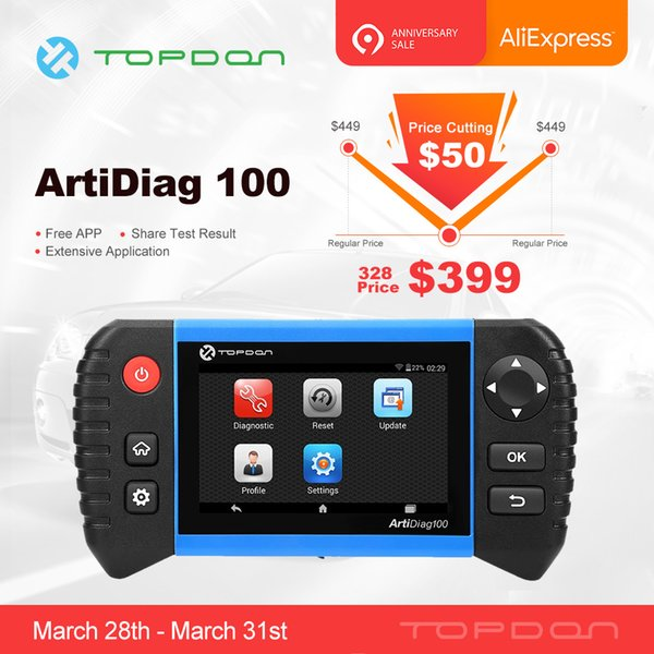 TOPDON ArtiDiag 100 Car Auto Diagnostic Tool Professional Full System Scanner Automotive as CRP Touch Pro EPB BMS SAS OIL DPF