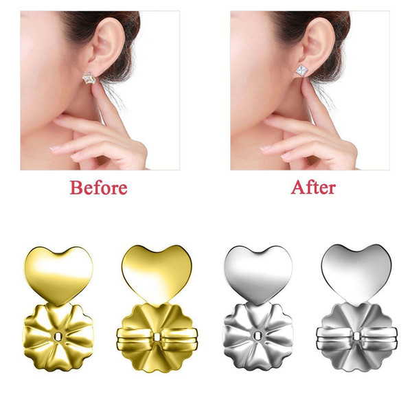 Earrings Lifters Gold Silver Color magic bax Earring Backs Support Hypoallergenic Fits All Post magic bax earring lifters Earrings Backs
