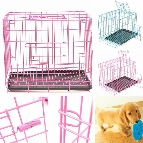 Heavy Duty Dog Cage Crate Kennel Metal Pet Playpen Portable with Tray Metal Cage for Cats Dogs Pets