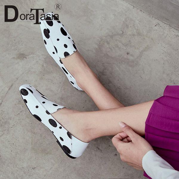 DORATASIA Brand New Big Size 33-42 Polka Dot frauen Rosshaar Loafers Schuhe Frau Lässig Party Büro Frühling Herbst Wohnungen