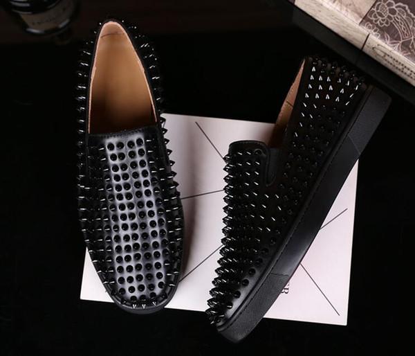 nuovo ingrosso Moda Abiti di lusso Scarpe da sposa Sneaker rosso low top Sneakers Lous Spikes Strass e unghie 6sd