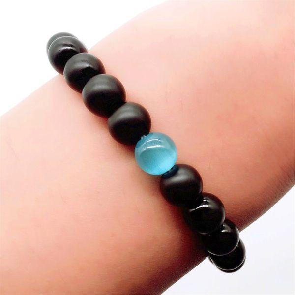 Mens Water Drop Bracelet - Semi-Precious Natural Stones - Handmade Genuine Quality Onyx Bracelets for Women birthday present Men's gift Ms.