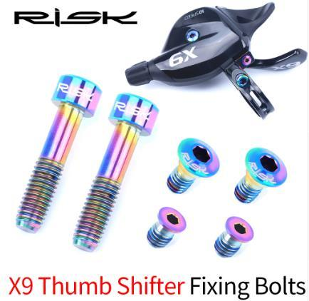 top popular RISK Bike Shifter Brake Lever Fixed Bolts Titanium Alloy Screw For SRAM GX Eagle X9 X01 X01Eagle XX1 Bicycle Bolts 2019