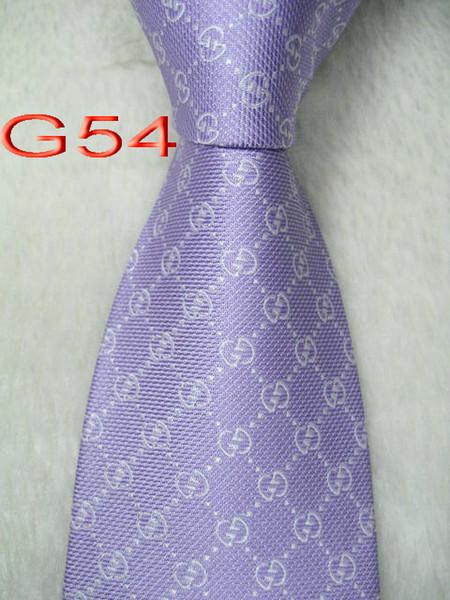 Classique 100% TISSÉ JACQUARD Mens Perfect Design HANDMADE lavande multicolore style hommes cravate en soie cravate # G54