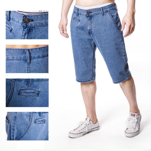 Denim Männer Shorts Loose Fit Gewicht Sommer Kurze Jeans Mann Baggy Plus Größe Männliche Kleidung