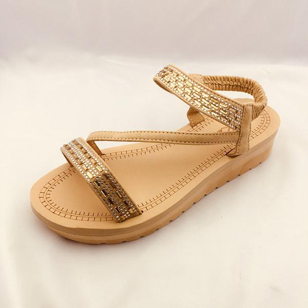 Elegantes 270 sandalias de cuña para mujer Señora Diseñador de lujo Caminando Correa del tobillo chanclas Zapatos de mujer de fondo rojo con comodidad hacer china