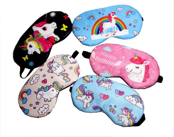 Hot Sale Cartoon Unicorn Eyepatch Fashion Cute Unicornio Shade Eyeshade Travel Portable Sleep Mask Eyes Care Tools Novelty Gift